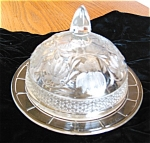 Click here to enlarge image and see more about item dish50419: Depression Glass Butter Dish