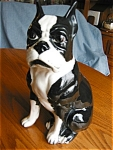 Click here to enlarge image and see more about item dog10512: Ceramic Boston Terrier Figurine