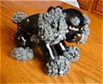 Click here to enlarge image and see more about item dog80519: Vintage Black Poodle Figurine