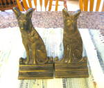 Click here to enlarge image and see more about item dogbookends100310: Vintage Dog Bookends