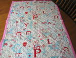Click here to enlarge image and see more about item dollblanket3013: Raggedy Ann Doll Vintage Blanket