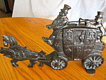 Click here to enlarge image and see more about item doorstop50610: Antique Stagecoach Doorstop