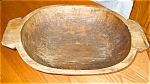 Click here to enlarge image and see more about item dough09091: Primitive Antique Dough Bowl