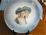 Click here to enlarge image and see more about item dresden30513: Antique Portrait Display Plate