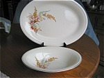 Click here to enlarge image and see more about item ed40423: Edwin Knowles China Platter and Vegetable Bowl