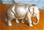 Click here to enlarge image and see more about item elep06061: Antique Iron Elephant Doorstop