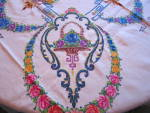 Click to view larger image of Embroidered Vintage Tablecloth w/Napkins (Image3)