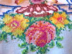 Click to view larger image of Embroidered Vintage Tablecloth w/Napkins (Image7)