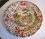 Click here to enlarge image and see more about item englishplatter0115: Vintage English Display Platter