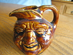 Click here to enlarge image and see more about item facejug110908: Vintage Miniature Face Jug Pitcher