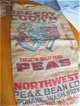Click here to enlarge image and see more about item feed06061: Vintage Burlap Feedsack