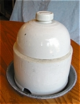 Antique Stoneware Chick Feeder
