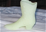Click here to enlarge image and see more about item fent12022: Fenton Custard Glass Boot