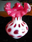 Click here to enlarge image and see more about item fenton707: Fenton Cranberry Vase