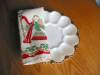 Click to view larger image of Fire King Deviled Egg Dish and Holiday Linen (Image6)