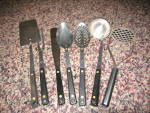 Click here to enlarge image and see more about item flintgadgets0812: Vintage Flint Kitchen Utensils