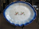 Click here to enlarge image and see more about item flow40410: Antique Flow Blue Platter
