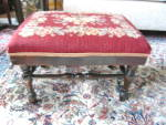 Vintage Needlework Footstool