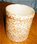 Click here to enlarge image and see more about item fpu12034: Friendship Pottery Spongeware Crock