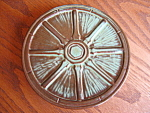 Click here to enlarge image and see more about item frankoma807: Scarce Frankoma Pottery Wagon Wheel Trivet