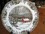 Click here to enlarge image and see more about item friendly10731: Vintage Johnson Bros. Dinner Plates