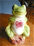 Click here to enlarge image and see more about item frog60516: Rare Ransbottom Bird Bath Frog
