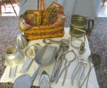 Click to view larger image of Vintage Kitchen Collectibles Basket (Image2)