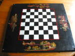 Click here to enlarge image and see more about item gameboard0412: Vintage Oriental Backgammon Chess Board