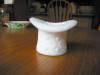 Click to view larger image of Milk Glass Hat Toothpick (Image2)