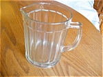 Click here to enlarge image and see more about item glass10521: Hazel Atlas Glass Milk Pitcher