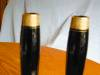 Click to view larger image of Black Glass Candlesticks Vintage (Image3)