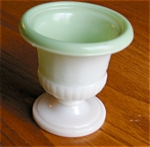 Click here to enlarge image and see more about item glass50401: Vintage Milk Glass Urn - Match Holder?