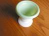 Click to view larger image of Vintage Milk Glass Urn - Match Holder? (Image2)