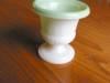 Click to view larger image of Vintage Milk Glass Urn - Match Holder? (Image4)