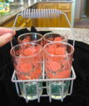 Vintage Glasses & Basket