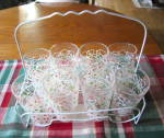 Vintage Glass Carrier & Glasses