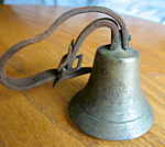 Click to view larger image of Antique Cow Bell and Collar (Image1)