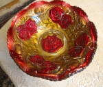 Click here to enlarge image and see more about item goofusglass0815: Victorian Goofus Glass Bowl