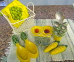 Click here to enlarge image and see more about item greenkitch2013: Retro Green Kitchenware