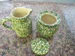 Click to view larger image of Friendship Pottery Green Spongeware (Image2)