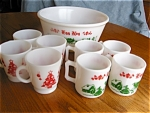 Click here to enlarge image and see more about item ha80505: Retro Hazel Atlas Eggnog Set