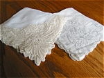 Click here to enlarge image and see more about item hankies110529: Early Fancy Hankies