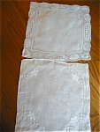 Click here to enlarge image and see more about item hankies90522: Two Vintage Hankies
