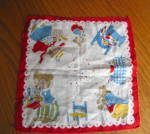 Click here to enlarge image and see more about item hanky060710: Three Bears Vintage Hanky