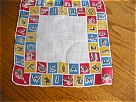 Click here to enlarge image and see more about item hanky10505: Alphabet Hanky Vintage