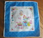 Click here to enlarge image and see more about item hanky110808: Small Hanky Vintage