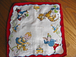 Click here to enlarge image and see more about item hanky112006: Vintage Circus Hanky