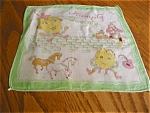 Click here to enlarge image and see more about item hanky90507a: Humpty Dumpty Hanky Vintage