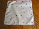 Click here to enlarge image and see more about item hanky90507c: Monogramed Novelty Hanky Vintage