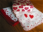 Click here to enlarge image and see more about item hanky90513z: Valentine Hankies & Box Vintage